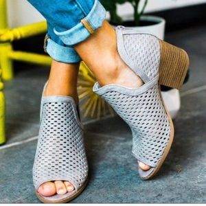 Shoes - MADISON Peep Toe Ankle Booties